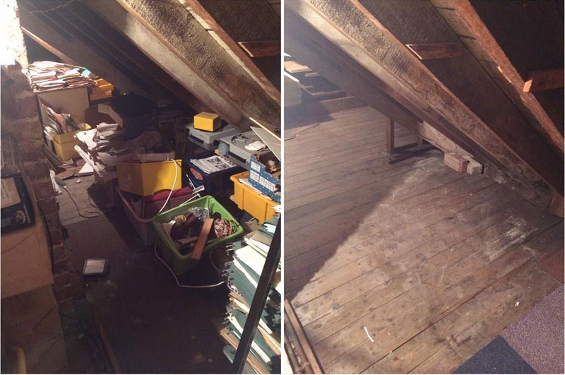 Loft Clearance before and after